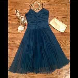 Betsey Johnson Teal Tulle Cocktail Dress Sz. 8